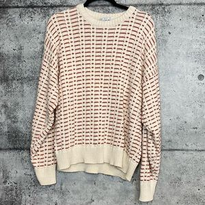 Vintage // Rust and Cream Knit Sweater